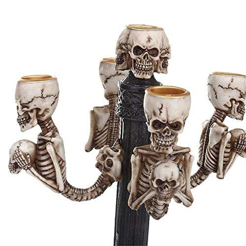 elecfan Halloween Horror Totenkopf Maske Skull, Halloween Skull Human Skull Model Halloween Dekoration Party Halloween Bar Dekoration Haunted House Halloween Deko Grusel Dekoration Skull Statues,A13