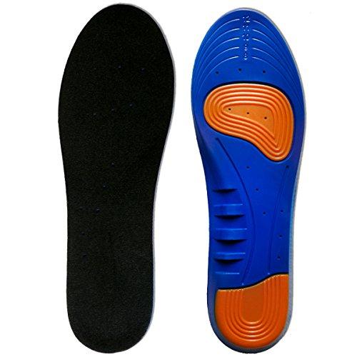 Kalak: sottopiedi e inserti per scarpe sportive realizzati con cuscino traspirante con piccoli fori e assorbimento degli urti (Misura uomo: 40-46,5 EUR)