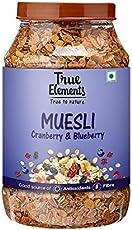 True Elements Cranberry and Blueberry Muesli 1000gm