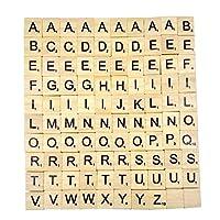 Generic–Buchstaben-aus-Holz-von-Scrabble–Puzzle-Alphabet-A-bis-Z-schwarz Chianrliu Generic–Buchstaben aus Holz –Puzzle Alphabet A bis Z, schwarz -