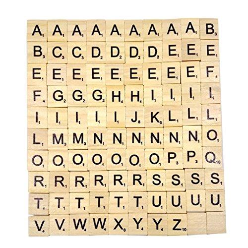 Unbekannt Generic-Buchstaben aus Holz von Scrabble-Puzzle Alphabet A bis Z, schwarz