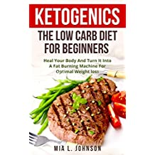 Ketogenics: The Low Carb Diet For Beginners: Heal Your Body And Turn It Into A Fat Burning Machine For Optimal Weight Loss (Diabetes, Increased Energy, ... Low Carb High Fat) (English Edition)