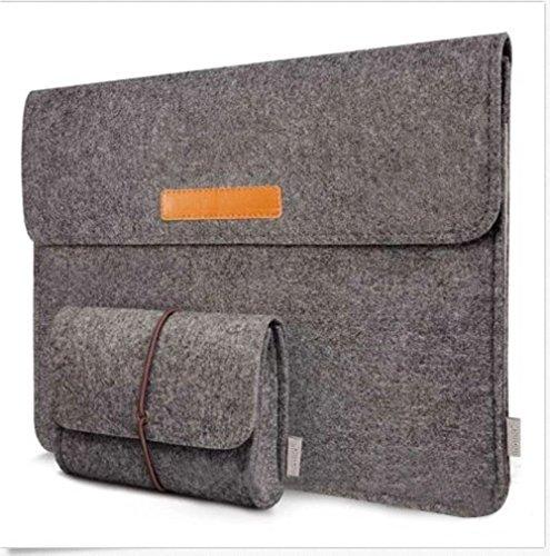 "Preisvergleich Produktbild 13-13,3 Zoll Filz Sleeve Hülle Notebook Laptop Tasche für 13""-13.3"" Dunkel Grau"