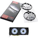 XFX MA-AP01-WLED Tarjeta de video Ventilador - Ventilador de PC (Tarjeta de video, Ventilador, 9 cm, 2 Ventilador(es), AMD Radeon™ RX, Negro, Color blanco)