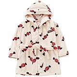 Bademäntel Kinder Nachthemd Winter Bademantel Warm Robe Sleepwear Baby Weich Pajamas für Junge und Mädchen Beige 2XL