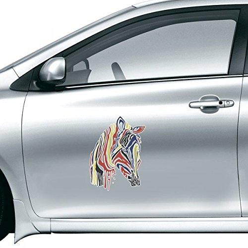 Einfach Zebra (DIYthinker Graffiti einzelne einfache Bunte Zebra Tier Autoaufkleber auf Auto Styling Aufkleber Motorrad Aufkleber für Auto-Zubehör-Geschenk 30cm)