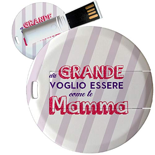 My Custom Style Pen Drive USB Kollektion 1#Muttertag 4/8/16 Gb Coin Card_8 GB FestaMamma Grande -