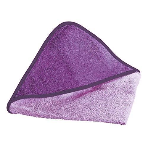 Wörner Kapuzen-Badetuch 80x80 cm - quadratisches Frottee-Tuch aus reiner Baumwolle mit Kapuze - Babytuch mit gewebten Saumkanten & kuscheligem Griff -