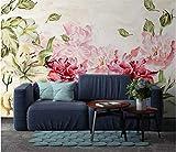 Keshj Vintage Hand Gezeichnet Floral Rose 3D Wallpaper Für Bar Ktv Tapeten Dekoration Hintergrund Malerei Wandbild Wallpapers-120Cmx100Cm