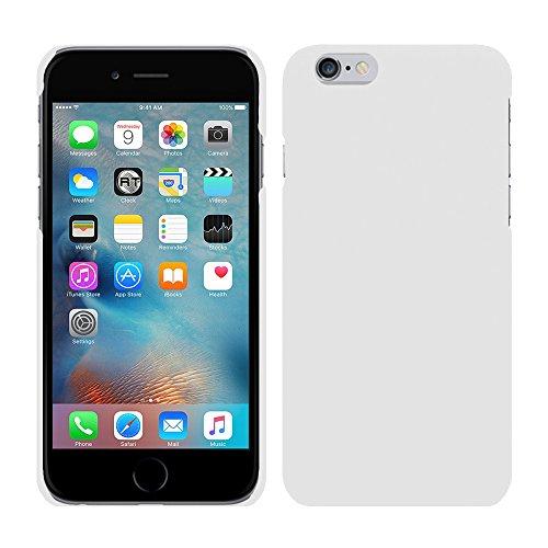 Apple iPhone 6S (4,7 Zoll) - Rubber Schutzhülle Gummiert Hybrid Hard Case Schutz Cover Etui Hülle Tasche in Grün - RT-Trading Weiß