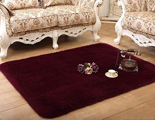 carpet Gewaschen und abgesaugt Durable Non-Fading Langes Haar Soft Verdickung Schlafzimmer Couchtisch Lounge Nachttisch Teppich Home Daily Mat -