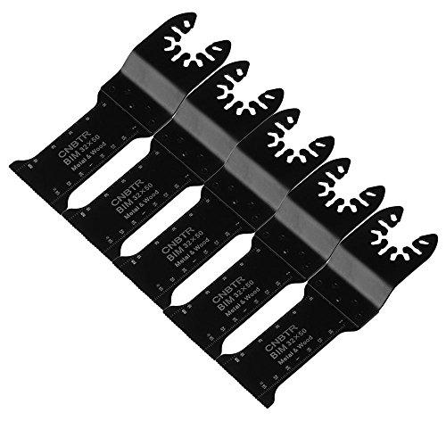 cnbtr 32x 50mm schwarz kohlenstoffreicher Stahl und M42HSS Quick Release oszillierendes Sägeblatt Multi Tools Set von 5