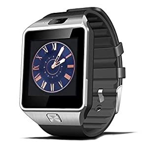Smart Watch DZ09 Bluetooth with SIM Card Slot Make Phone Calls 2.0MP Pedometer Sleep Monitor Camera Support Message Notification TF Card Compatible with Android or iOS System