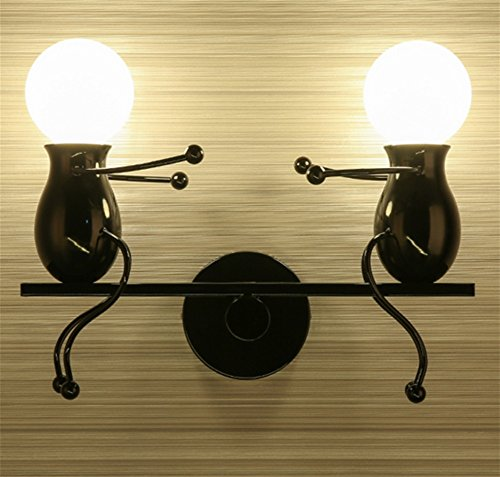 PLYY Einfache und Stilvolle postmoderne Kreative Wandlampe Kinder Wandlampe Nachttischlampe Kreative...