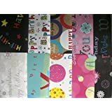 10 SHEETS OF HAPPY BIRTHDAY WRAPPING PAPER