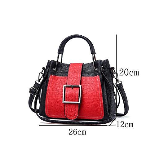 DHFUD Damen Schultertasche Handtasche Umhängetasche Einfache Mode Stitching Khaki