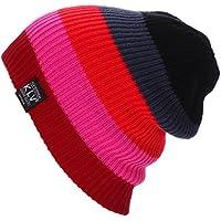 Belsen Unisex multicolore plaid Cappello Inverno Berretti in maglia sci mucchi Cap