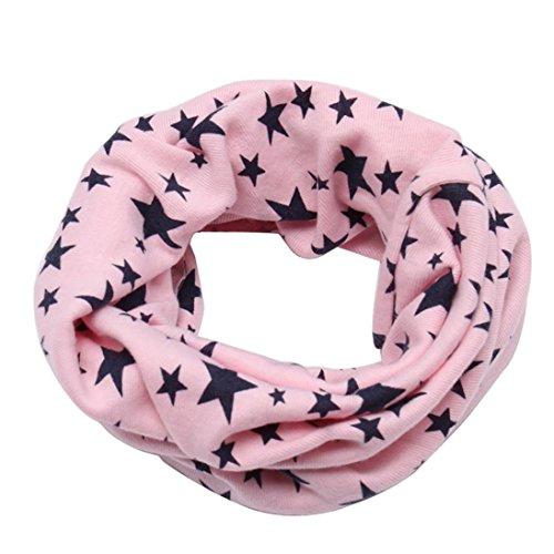 FEITONG Otoño invierno Niños niñas collar del bebé bufanda de algodón Cuello redondo Bufandas (M)