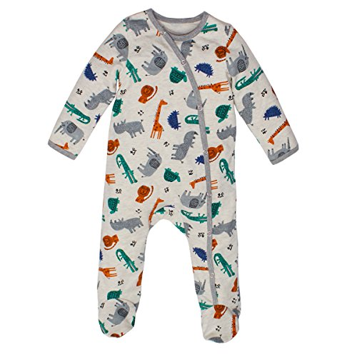 Kadambaby- Wild Safari body suit /footed romper /Newborn sleepsuit / onesies for baby boy/ Premium baby sleepwear (3-6 Months)