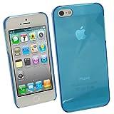 igadgitz Blau Getönt Hart Tasche Hülle Schutzhülle Etui Case Schale Hartschale für Apple iPhone SE, 5S & 5 + Displayschutzfolie (nicht geeignet für iPhone 5C)