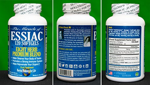 Herbal Balance for Life EssiacTeaSoftgels, 796 mg, 3 Pack 360 weiche Gele, acht Kräuter-Essiac-Tee, kein Brauen, keine Abkühlung, 90-Tage-Versorgung