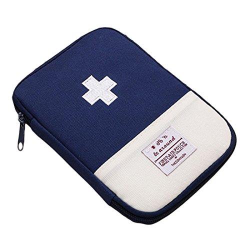 Mini-notfall-kit (uu19ee Tragbarer Mini Erste Hilfe Tasche Home Notfall Kit Medizin Aufbewahrungstasche für Outdoor Aktivitäten Reise Camping Wandern, Blau)