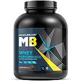 MuscleBlaze 70% Whey Performance Protein, 2 Kg/4.4 Lb (Chocolate)