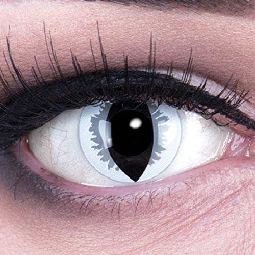bige graue Crazy Fun grey dragon Jahres Kontaktlinsen perfekt zu Halloween, Karneval, Fasching oder Fasnacht mit gratis Kontaktlinsenbehälter ohne Stärke! ()
