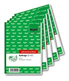 Sigel SD003/5 Auftragsbuch A6, 2 x 40 Blatt, selbstdurchschreibend, 5er Pack