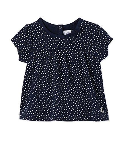 Petit Bateau Baby-Mädchen T-Shirt MC_24589, Mehrfarbig (Smoking/Lait 67), 86 (Herstellergröße:18m/81cm) (Bateau-ausschnitt Top)