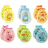 6 Pairs Mix color Scratch Mittens Gloves Cotton Baby Toddler Newborn