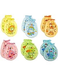 Moufles clickcago bébé contre les rayures, couleurs assorties, lot de 6