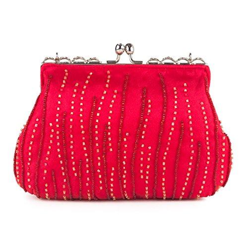 Farfalla - 90472, Stringate Donna Rosso (rosso)