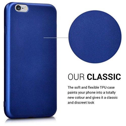 kwmobile Hülle für Apple iPhone 6 / 6S - TPU Silikon Backcover Case Handy Schutzhülle - Cover Metallic Rosegold .Metallic Blau
