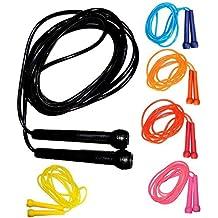 Cuerda para saltar (275 cm), por ZOR, hombre mujer Infantil, negro