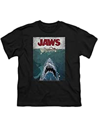 Jaws Lined Poster Big Boys Shirt