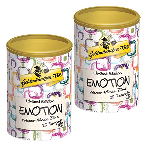 Goldmännchen Tee PUROMA Emotion / Kräuter Minze Zimt, Kräutertee, Teebeutel, Tee Pads, 50 Puroma-Beutel