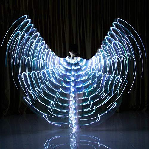 Soulitem Tanz LED Flügel Leuchten Halloween Kostüme Bühnenperformance Kleidung für Erwachsene