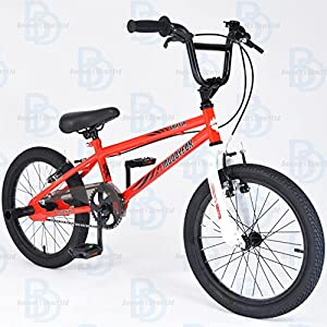 "517LJSV PqL. SS300  - Muddyfox Griffin 18"" BMX Bike with Stunt Pegs - Red and White - Boys - New Model - Online Exclusive!"