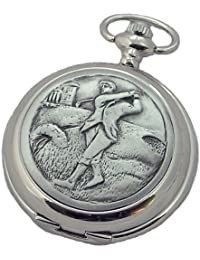 A E Williams Golfer mens mechanical pocket watch with chain