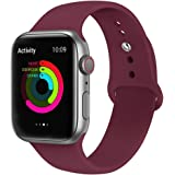 EWORLD Sport Band for Apple Watch 44mm 42mm, Soft Silicone Strap Replacement iWatch Bands for Apple Watch Sport,Series 4, Ser