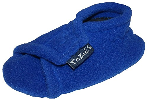 TOZIES Baby Toddler Boys Girls Soft Indoor Play Shoes / Slippers Non Slip / Stay On - ROYAL BLUE