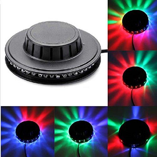 [Aution House- Mini Solaire Lampe de Soucoupe Volante 8W 48 LED RGB Utilité la Scène, les Concerts, le Party ,les Bars ]-Huston Lowell (Noir)