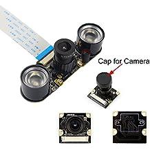 Kuman Módulo de Cámara para Raspberry Pi 5MP 1080p OV5647 Sensor Cámara de Vídeo de HD Soporte Visión Nocturna para Raspberry Pi 3 Modelo B B + A + RPi 2 1 Cámara SC15