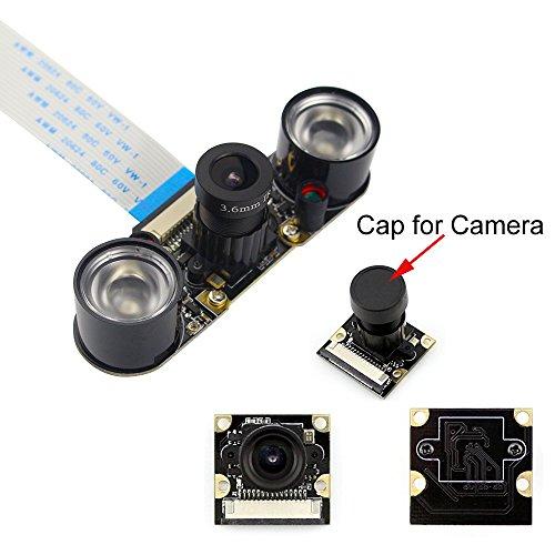 Kamera-sensor-modul (Kuman Raspberry Pi 3 model B B+ A+ RPi 2 1 Kamera Modul IR Filter, tages- und nachtsichttaugliches Kamera Modul für alle Raspberry Pi Modelle SC15)
