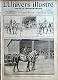 UNIVERS ILLUSTRE (L') [No 2348] du 24/03/1900 - LA VENTE D'UN CHEVAL DE PRIX - FLYING FOX - L'ARRIVEE DU CHEVAL - LE BUREAU D'ADJUDICATION - LE DEPART DU CHEVAL - L'ADJUDICATION - LE TOUAT - ARRIVEE A GHARDAIA - GHARDAIA - VUE DE LA VILLE - UN PASSAGE DIFFICILE DANS LE HAMADA - DESCENTE DE L'OUED....