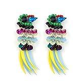 Kleidung Accessoires Beste Deals - HAND ® No.21 Ein Paar bunte Vögel mit Perlen und Pailletten Sew-On Borte - Verzierungen für Kleidung, Accessoires