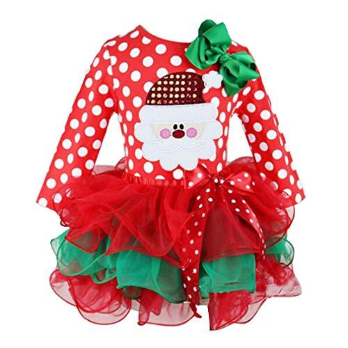 WEIMEITE Fancy New Year Baby Mädchen Weihnachten Santa Kleid für Mädchen Winter Schneemann Urlaub Kinder Kleidung Xmas Party Tüll Kinder Kostüm