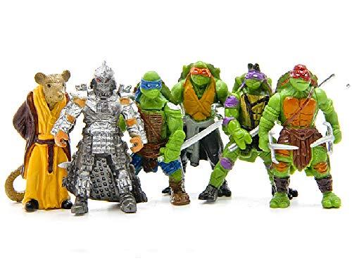 Teenage Mutant Ninja Turtles Ninja-Schildkröten 6 Action-Figuren - Schneller Versand