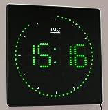 LED - Wanduhr mit Zahlen grün quadratisch digital Uhr Datum Temperatur Alarm P